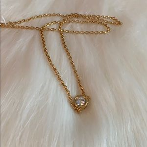 4 for $25 - VTG Cosmopolitan Gold Tone CZ Necklace